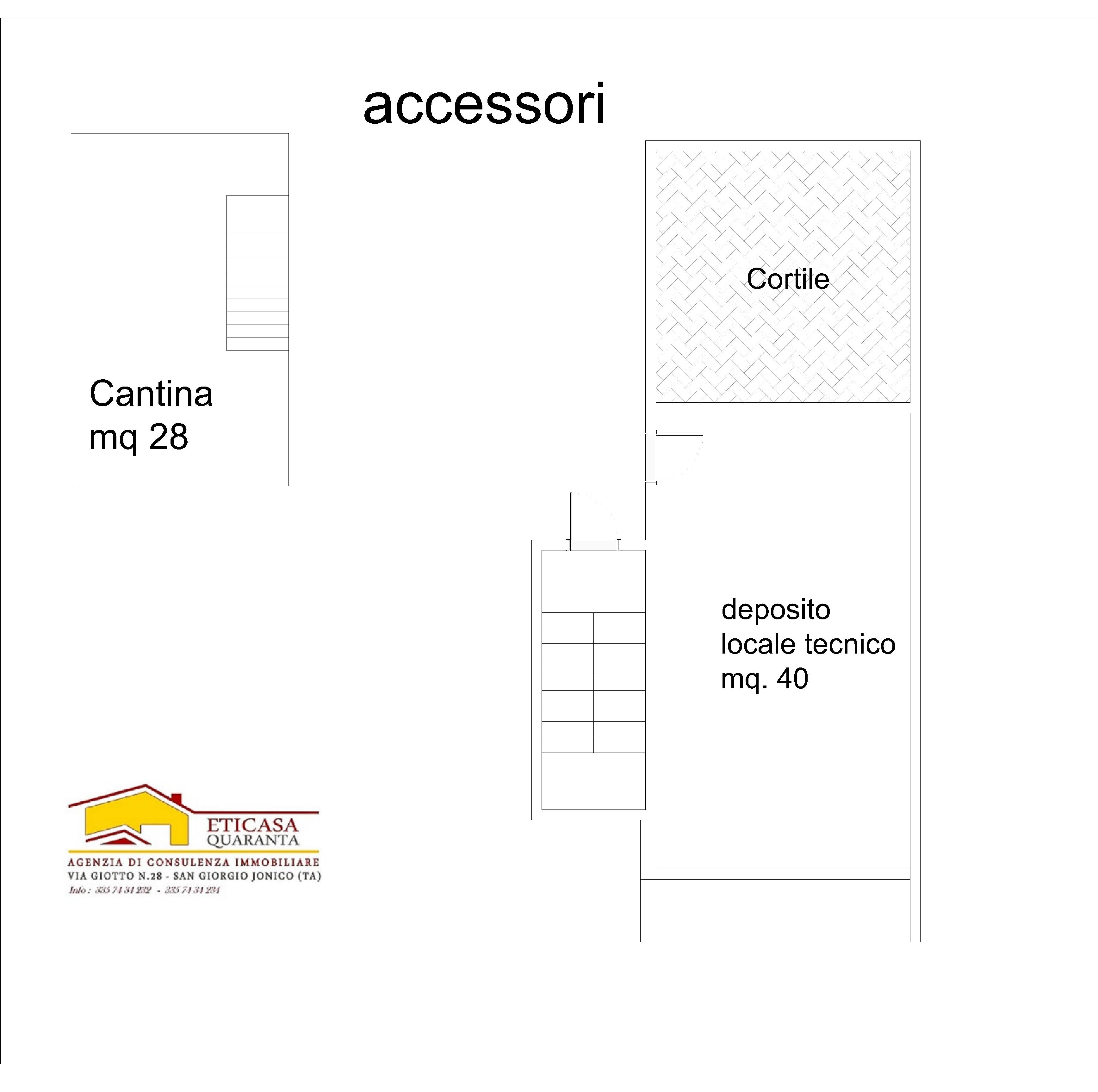 Accessori: cantina/deposito/cortile interno